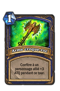 Hearthstone : Arme croque-roc