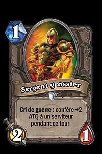 Hearthstone : Sergent grossier