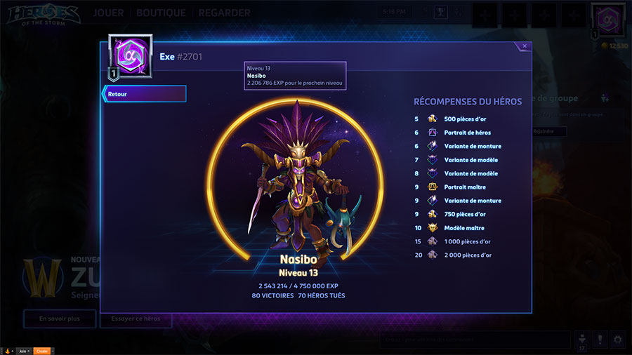 Heroes of the Storm : la progression de vos héros