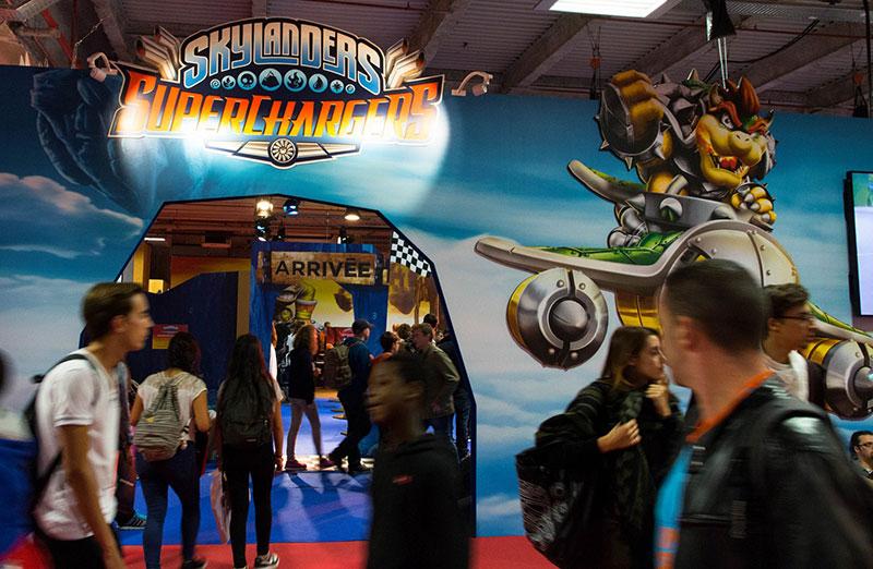 Paris Games Week : le coin des enfants dans un hall séparé