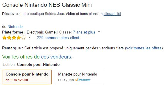 Retrogaming : NES Classic Mini à prix d'or