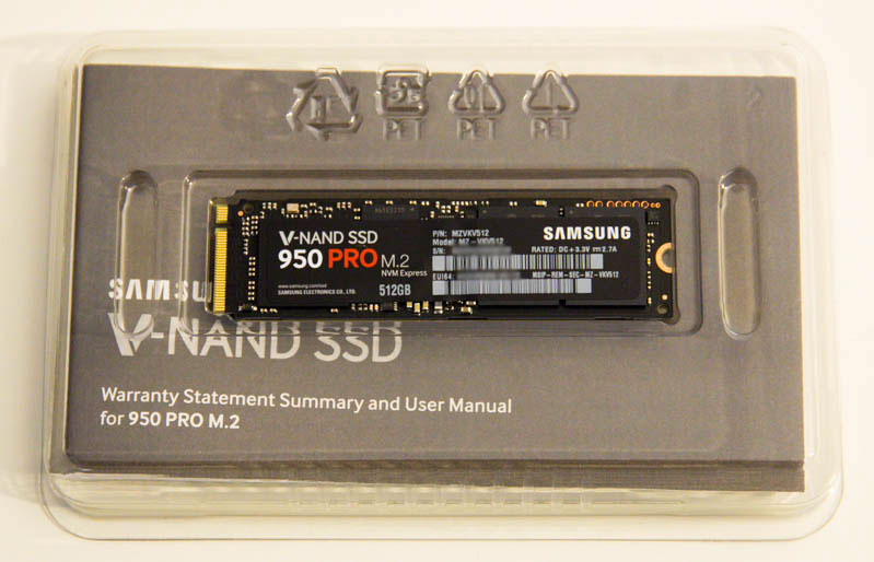 SSD Samsung 950 Pro 512Go : un format très réduit
