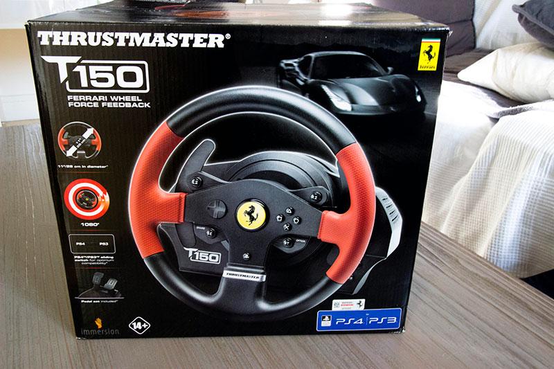Thrustmaster T150 : un gros carton pour protéger le volant