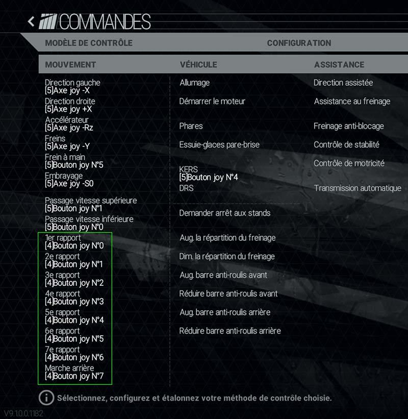 Thrustmaster TH8A : chaque rapport se configure indépendamment