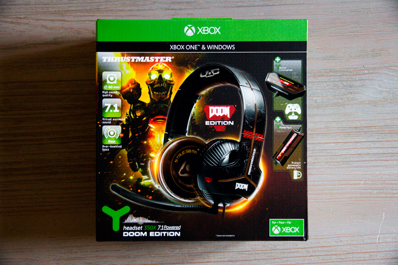 Thrustmaster Y-350X 7.1 Powered DOOM Edition : un package haut de gamme